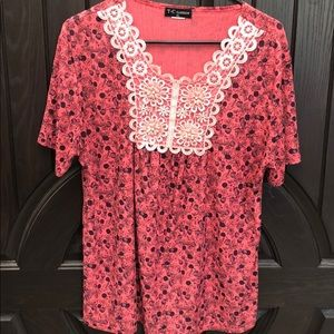 Coral Women's shirt with design